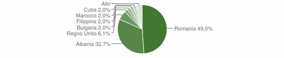 Grafico cittadinanza stranieri - Bergamasco 2017