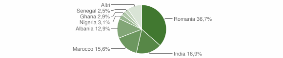 Grafico cittadinanza stranieri - Cavallermaggiore 2018