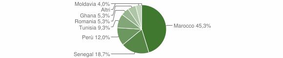 Grafico cittadinanza stranieri - Crevacuore 2013