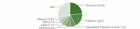Grafico cittadinanza stranieri - Quaregna Cerreto 2013