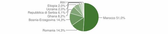 Grafico cittadinanza stranieri - Crosa 2011