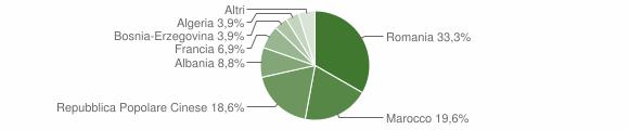 Grafico cittadinanza stranieri - Sanfront 2009