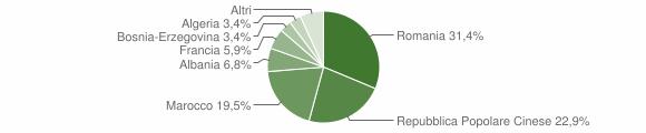 Grafico cittadinanza stranieri - Sanfront 2011