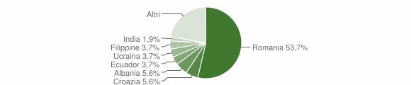 Grafico cittadinanza stranieri - Salussola 2013