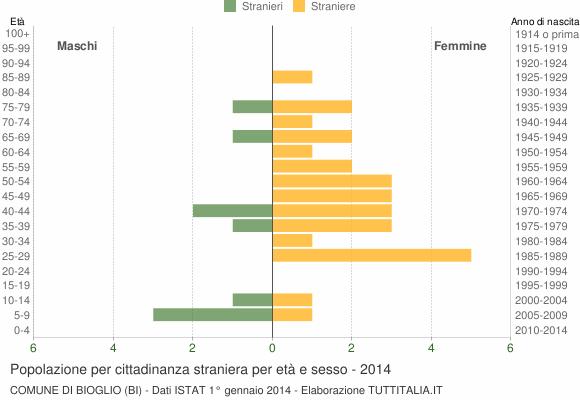 Grafico cittadini stranieri - Bioglio 2014