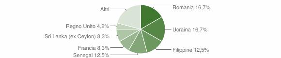 Grafico cittadinanza stranieri - Sostegno 2013