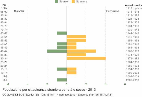 Grafico cittadini stranieri - Sostegno 2013