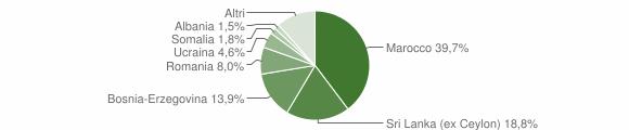Grafico cittadinanza stranieri - Valdilana 2013