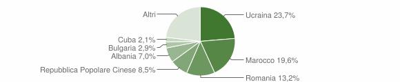 Grafico cittadinanza stranieri - Gattinara 2019