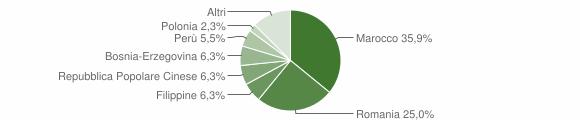 Grafico cittadinanza stranieri - Tollegno 2018