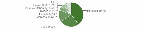 Grafico cittadinanza stranieri - Desana 2019