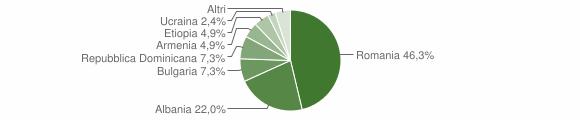 Grafico cittadinanza stranieri - Formigliana 2019
