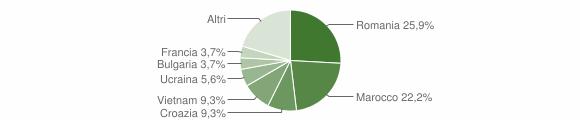 Grafico cittadinanza stranieri - Sandigliano 2006