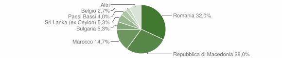 Grafico cittadinanza stranieri - Monastero Bormida 2017