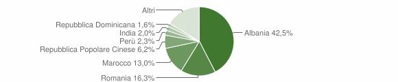 Grafico cittadinanza stranieri - Saluzzo 2018