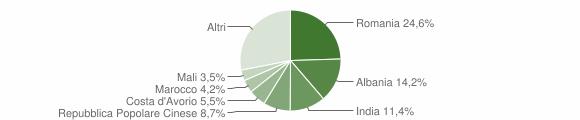 Grafico cittadinanza stranieri - Cervasca 2019