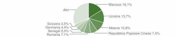 Grafico cittadinanza stranieri - 2006