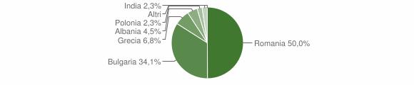 Grafico cittadinanza stranieri - Castri di Lecce 2009