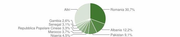 Grafico cittadinanza stranieri - Galatina 2018