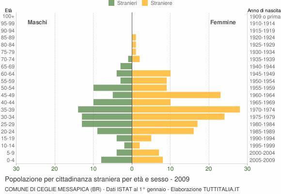 Grafico cittadini stranieri - Ceglie Messapica 2009