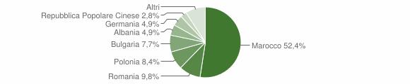Grafico cittadinanza stranieri - Veglie 2008