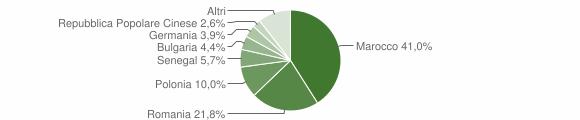 Grafico cittadinanza stranieri - Veglie 2014