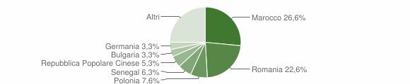 Grafico cittadinanza stranieri - Veglie 2019