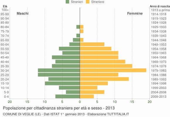 Grafico cittadini stranieri - Veglie 2013