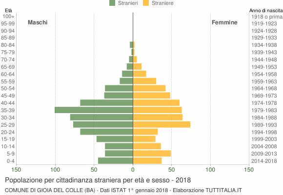 Grafico cittadini stranieri - Gioia del Colle 2018