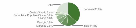 Grafico cittadinanza stranieri - Mottola 2019