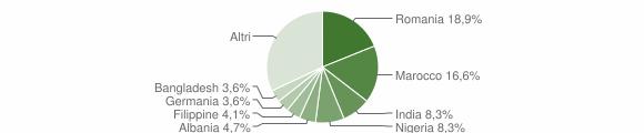 Grafico cittadinanza stranieri - Castrignano del Capo 2019