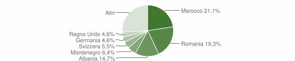 Grafico cittadinanza stranieri - Galatone 2009