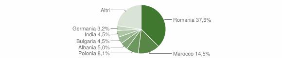 Grafico cittadinanza stranieri - Galatone 2016