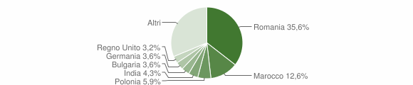 Grafico cittadinanza stranieri - Galatone 2018