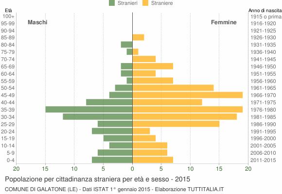 Grafico cittadini stranieri - Galatone 2015