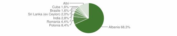 Grafico cittadinanza stranieri - Lequile 2012