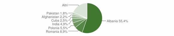 Grafico cittadinanza stranieri - Lequile 2018