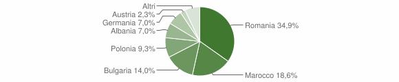 Grafico cittadinanza stranieri - Collepasso 2013