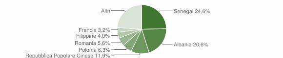 Grafico cittadinanza stranieri - Surbo 2009