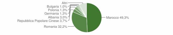 Grafico cittadinanza stranieri - Ruffano 2017