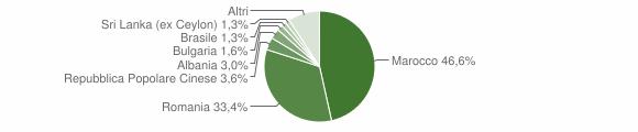 Grafico cittadinanza stranieri - Ruffano 2019