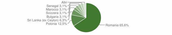 Grafico cittadinanza stranieri - Sanarica 2019
