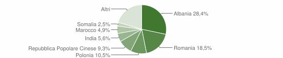 Grafico cittadinanza stranieri - Trepuzzi 2009