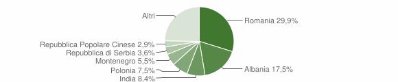 Grafico cittadinanza stranieri - Trepuzzi 2015