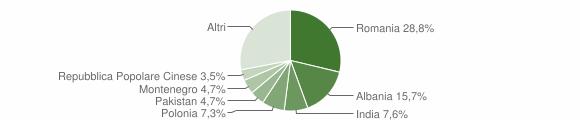 Grafico cittadinanza stranieri - Trepuzzi 2016