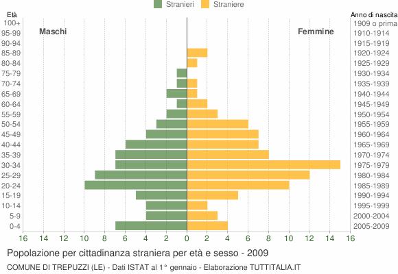 Grafico cittadini stranieri - Trepuzzi 2009