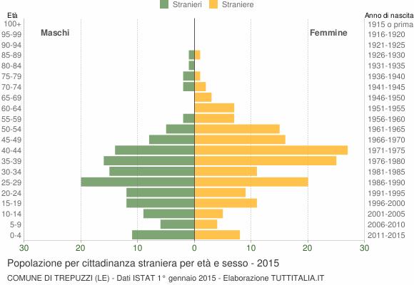 Grafico cittadini stranieri - Trepuzzi 2015