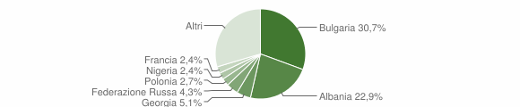 Grafico cittadinanza stranieri - Giovinazzo 2019