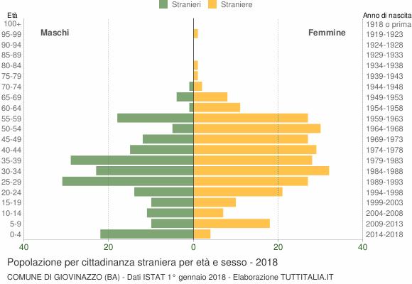 Grafico cittadini stranieri - Giovinazzo 2018