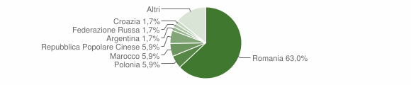 Grafico cittadinanza stranieri - Martano 2013